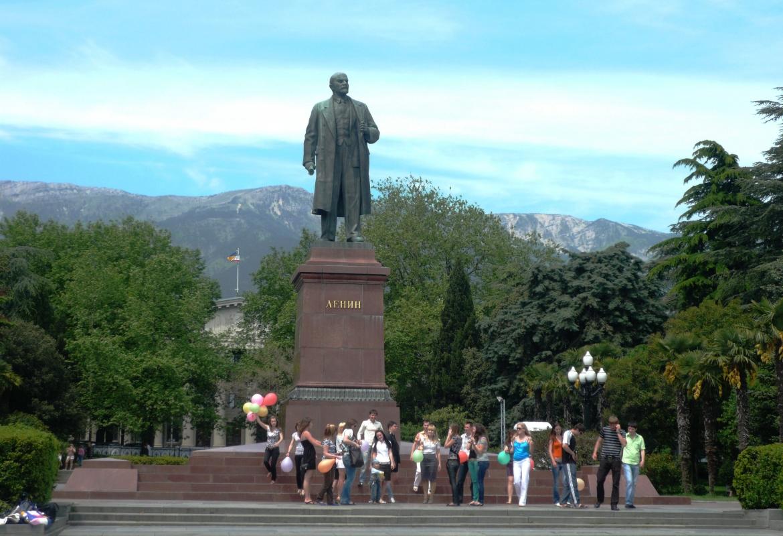 Unbeeindruckt von den Ereignissen:  Lenin in Jalta