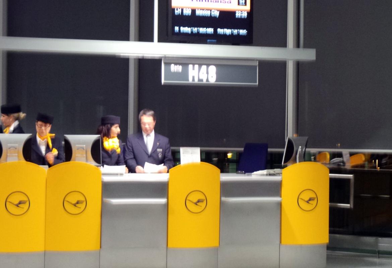Erstflug Mexico City: am Gate in München