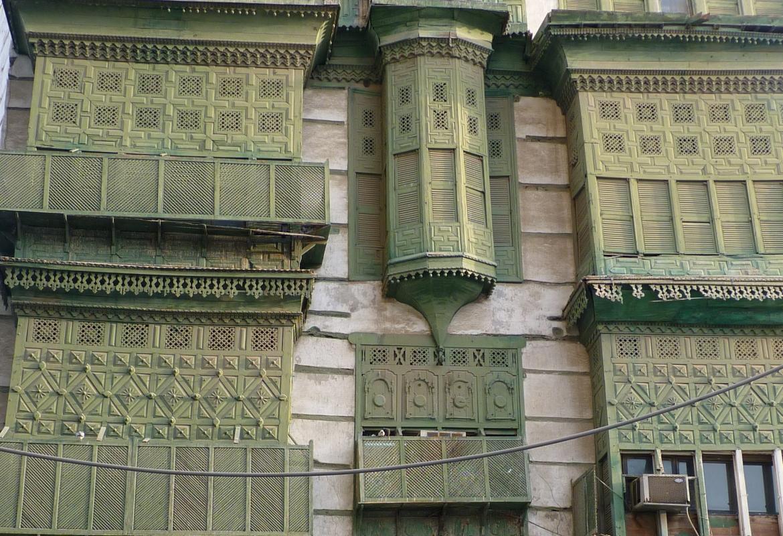 Jeddah Ausschnitt grünes Haus