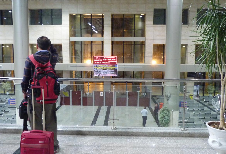 So groß und so leer:  Erst seit einem Jahr gibt es diesen Bahnhof in Shiraz.