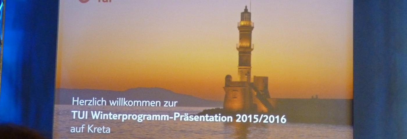 TUI Programmpräsentation auf Kreta