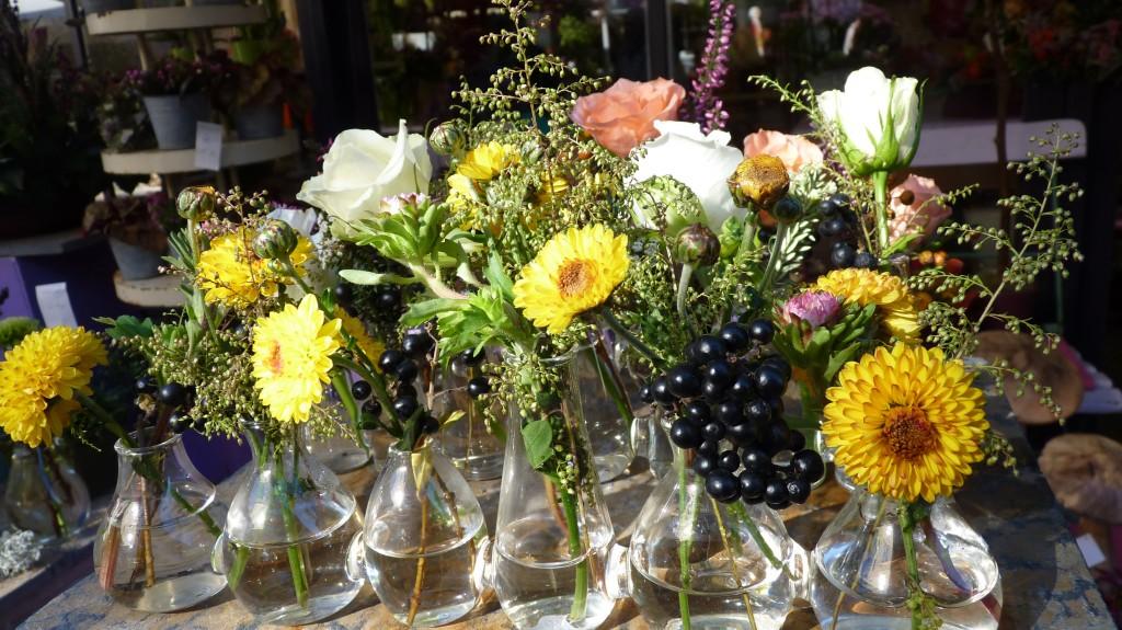 Stadtmarkt Blütendeko