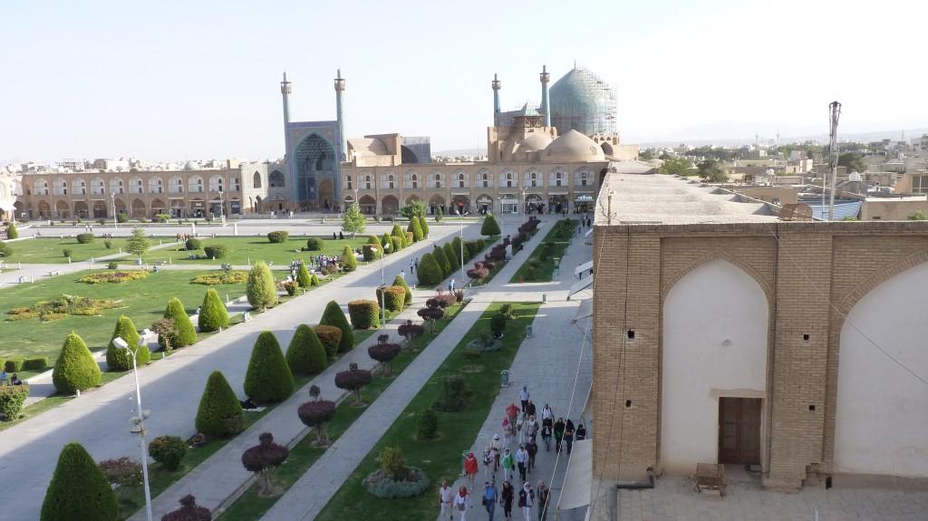 Isfahan Touristen auf dem Platz des Imams