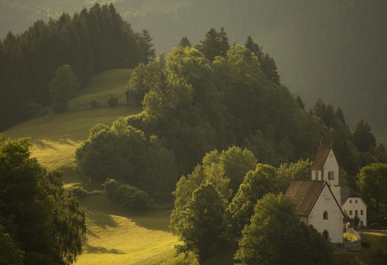 Das Salzburger Land, eine Landschaft in grün.  Foto: Jörg Lehmann