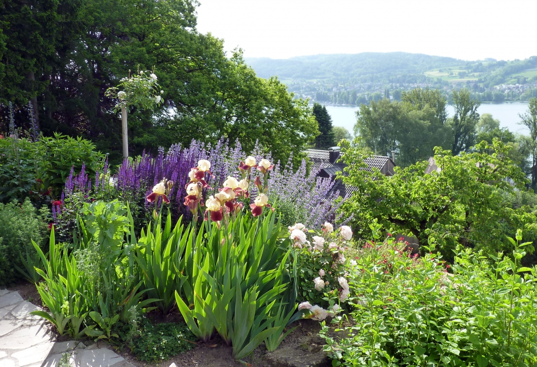 Auch der Garten blüht so wie zu den Zeiten, in denen die Familie Dix hier lebte.