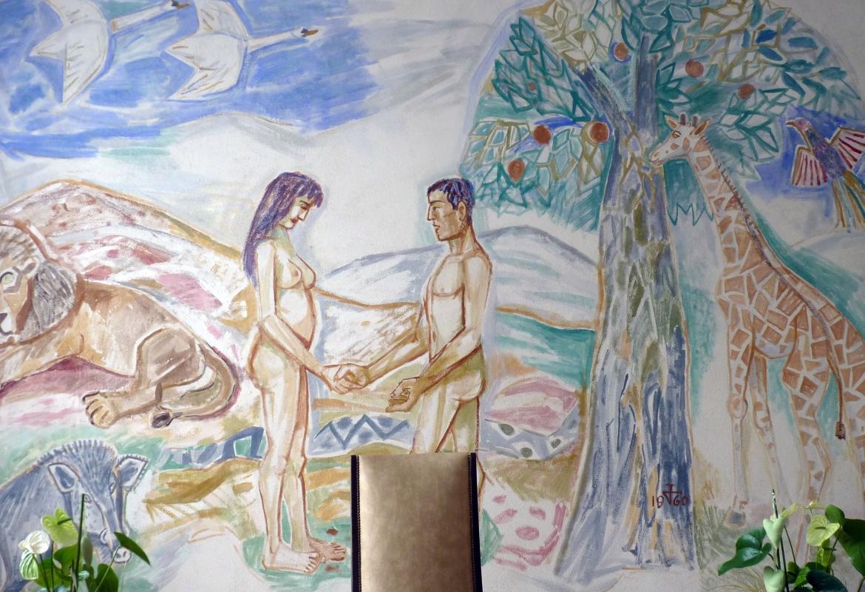Im  Rathaus von Singen hat Dix auch Adam und Eva an die Wand gemalt.