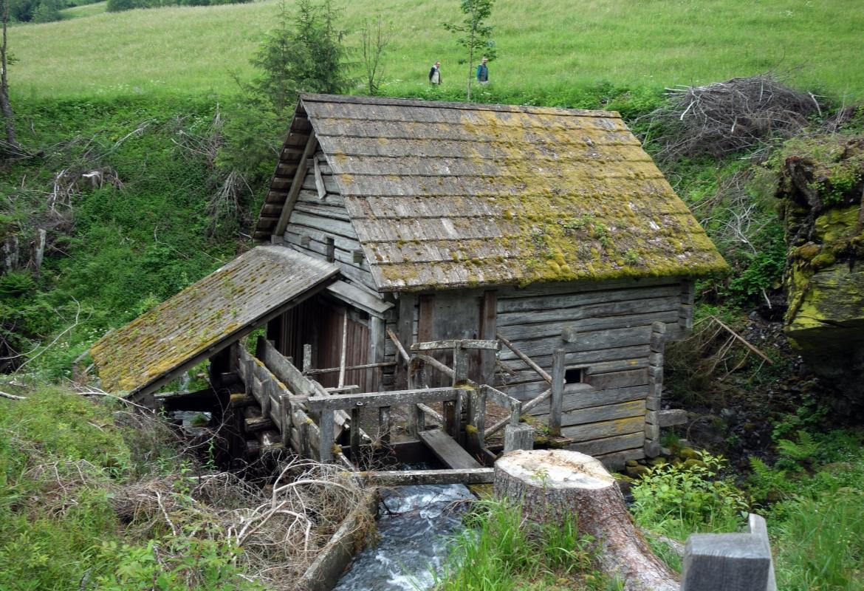 Nur eine von vielen Mühlen ist übrig geblieben.