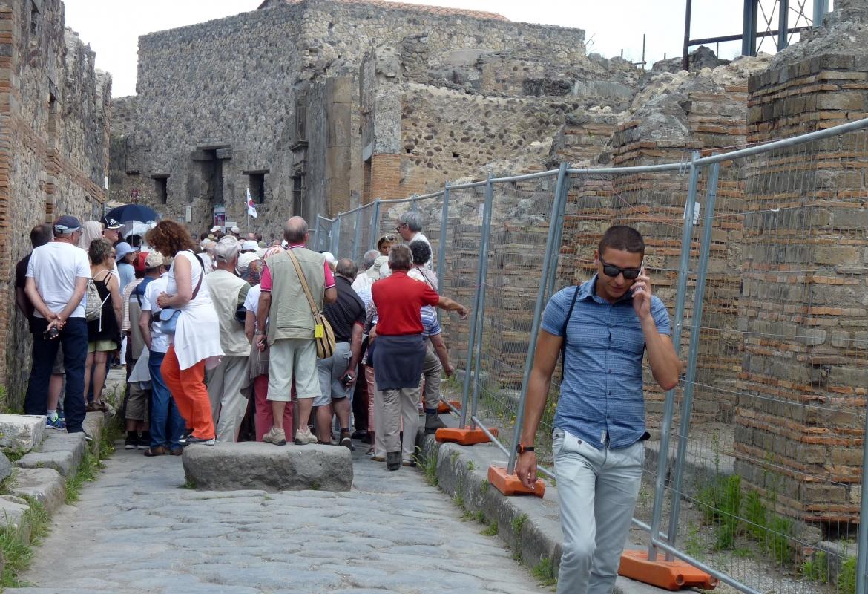 Wir meiden den Massenandrang in Pompeji.