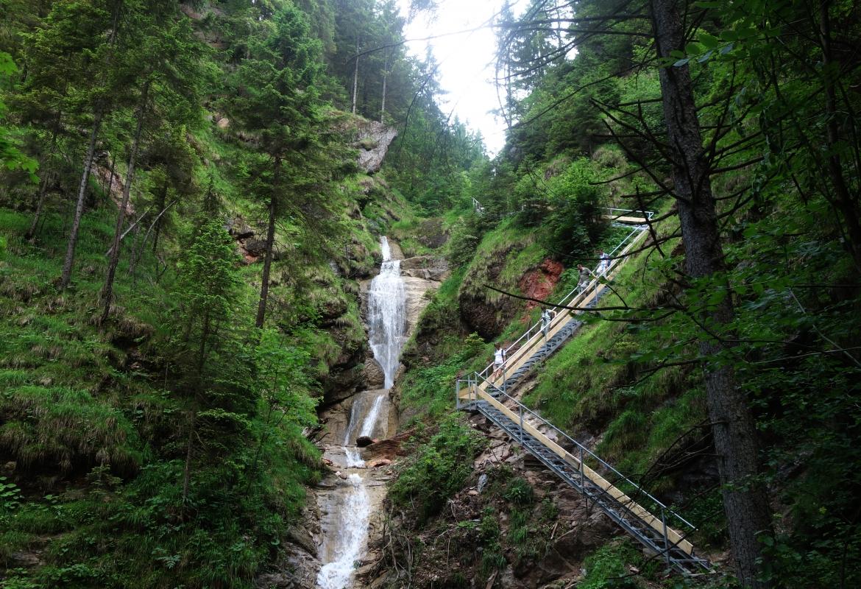 Ein Teil des Wasserfallwegs wurde ganz neu angelegt.