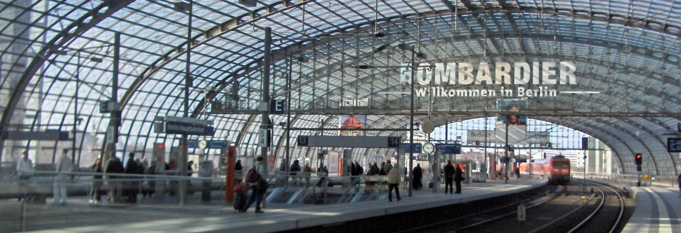 Berlin, im neuen Hauptbahnhof