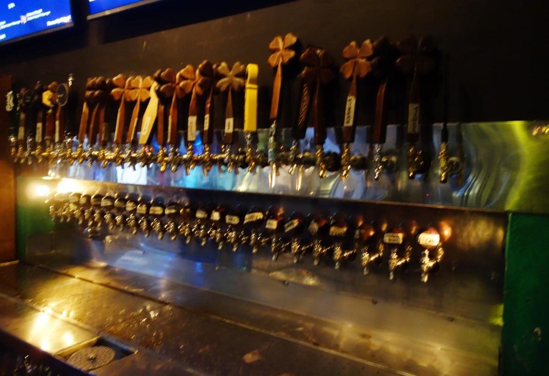 Die Auswahl an Bieren ist gigantisch:  Letzter Drink in San José.