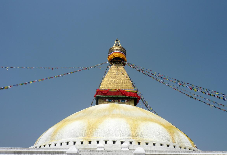 Nepal ist ein Land der Gegensätze mit viel Kultur wie dem Bodnath Stupa in Kathmandu