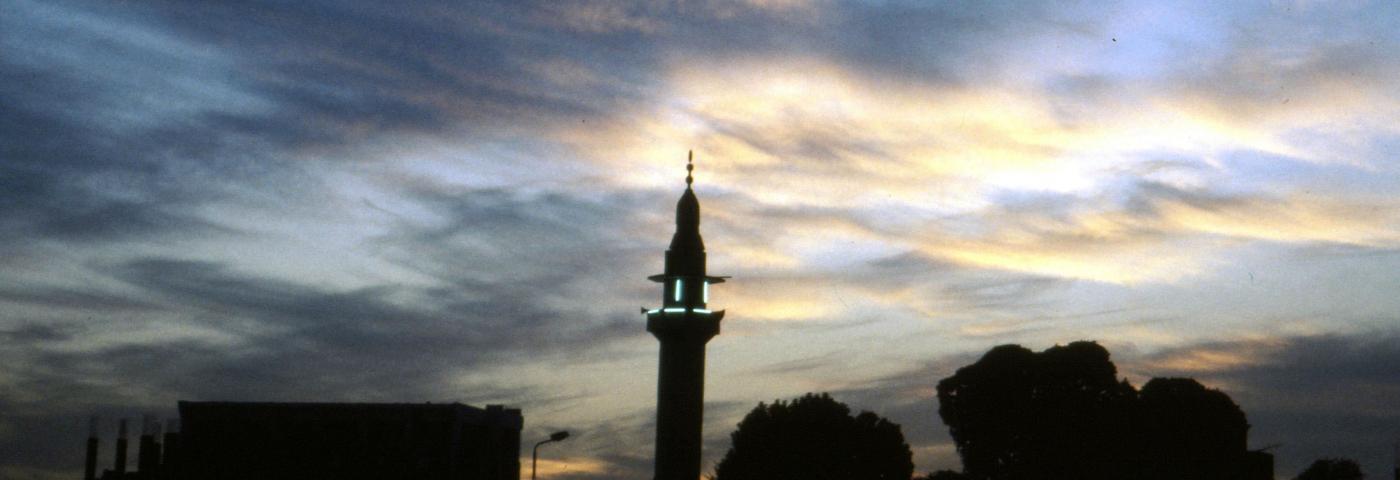 Ägypten Moschee im Abendlicht